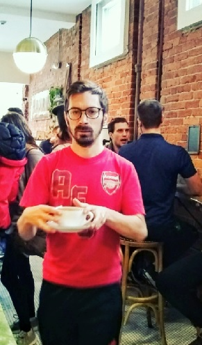 young man with coffee