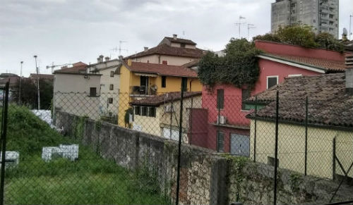 view from balcony of Italian apartments