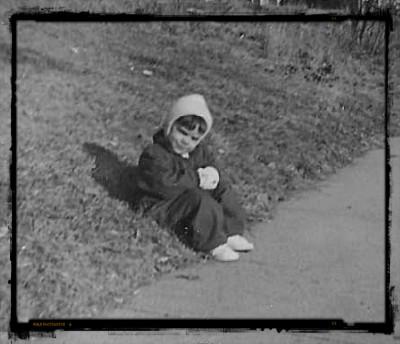 vintage photo of toddler