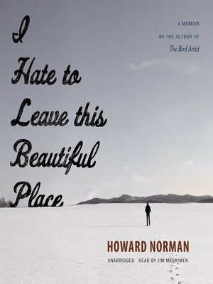 Book cover with man standing alone in snow