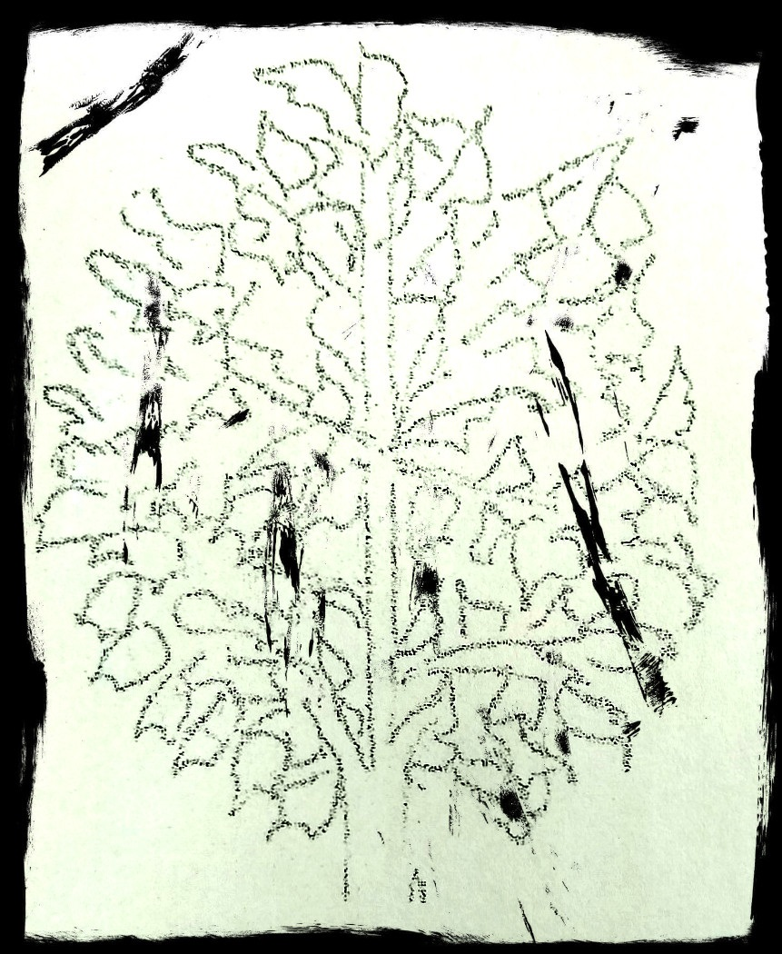 drawing of tree top